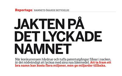 Article in Läkemedelsvärlden 7/2011