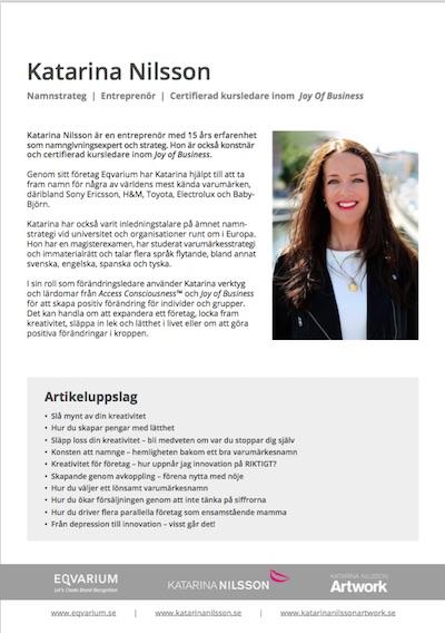 Katarina Nilsson BIO