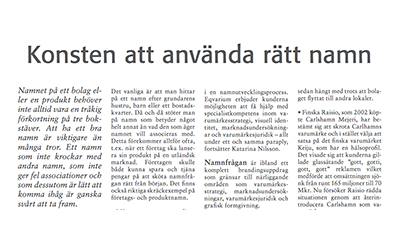 Article in Cad&Ritnytt (In Swedish) 2008-05-30