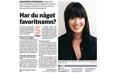 Article in Svenska Dagbladet (In Swedish) 2010-04-30