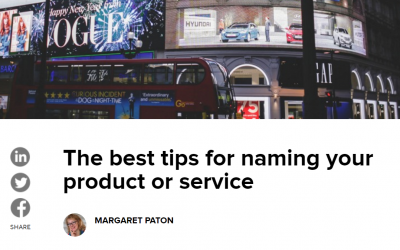 The best tips for naming your product or service